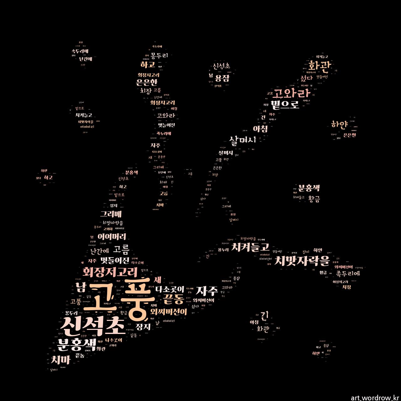 워드 아트: 고풍 [신석초]-45